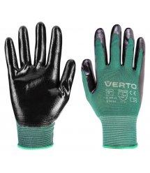 """Рукавички садові Verto, нітрилове покриття, розмір 8"""""""
