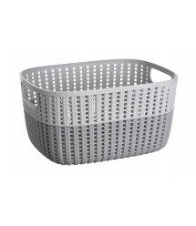 Корзинка плетеная Ardesto Sweet Home, 6.8 л, 286*215*150 мм, серый, пластик