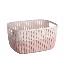 Корзинка плетена Ardesto Sweet Home, 6.8 л, 286*215*150 мм, рожевий, пластик