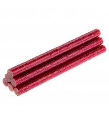 Стрижні клейові TOPEX рожеві з глітером, діаметр 8 мм, довжина 100 мм., 6 шт.