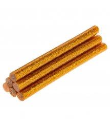 Стрижні клейові TOPEX золотаві з глітером, діаметр 11 мм, довжина 100 мм., 6 шт.