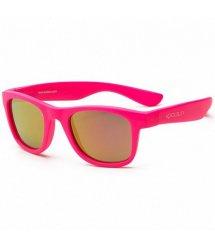 Дитячі сонцезахисні окуляри Koolsun неоново-рожеві серії Wave (Розмір: 3+)