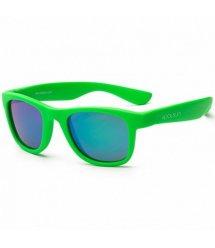 Детские солнцезащитные очки Koolsun неоново-зеленые серии Wave (Размер: 3+)