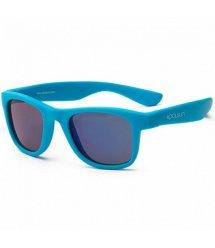 Детские солнцезащитные очки Koolsun неоново-голубые серии Wave (Размер: 3+)