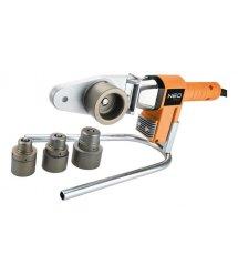 Паяльник для пластикових труб NEO Tools, 650 Вт, 4 насадки, PTFE-покриттяб, 260°С, 4,4кг, кейс