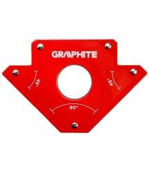 Cварочный угольник магнитный GRAPHITE 56H903, 122 x 190 x 25 мм, 45 или 90град., сила 34 кг