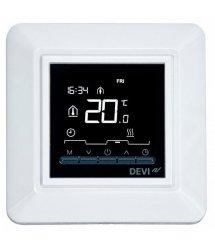 """Терморегулятор DEVIreg Opti, электронный, 2"""" экран, 85 х 85мм, макс. 13A, белый"""