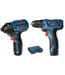 Набір акумуляторних інструментів Bosch гайковерт GDR120-LI + шуруповерт GSR 120-LI