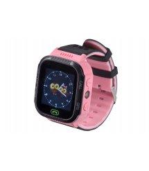 Дитячий GPS годинник-телефон GOGPS ME K12 Рожевий