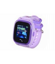Дитячий GPS годинник-телефон GOGPS ME K25 Пурпуровий