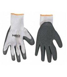 """Рукавички робочі NEO, х / б з латексним покриттям, опір проколу 3, 8 """", CE"""
