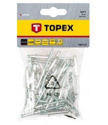 Заклепки TOPEX алюмiнiєвi 3.2 мм x 10 мм, 50 шт.*1 уп.