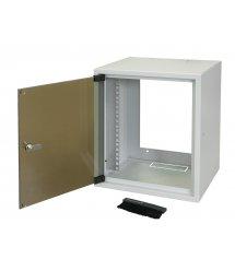 "Шкаф ZPAS 10"" 7U, глубина 260мм. стекл.дверь, серый"