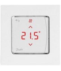 Терморегулятор Danfoss Icon Display, электронный, сенсорный, программируемый, 230V, 80х80мм, In-Wall, белый