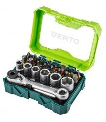 Набор насадок VERTO, 24 шт., 25 mm, сменные головки 6 шт.