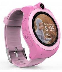 Дитячий GPS годинник-телефон GOGPS ME K19 Рожевий