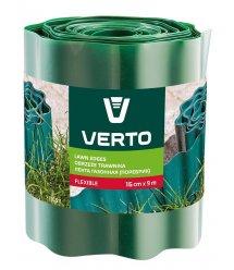 Стрічка VERTO газонна 15 cm x 9 m, зелена
