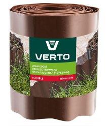 Стрічка VERTO газонна 15 cm x 9 m, коричнева