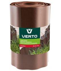 Стрічка VERTO газонна 20 cm x 9 m, коричнева