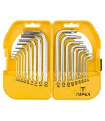 Ключи TOPEX шестигранные HEX и Torx, набор 18 шт.