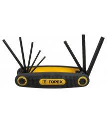 Ключi TOPEX шестиграннi Torx T9-T40, набiр 8 шт.