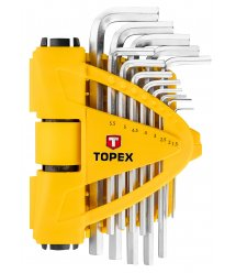 Ключи шестигранные TOPEX 1.5-10 мм, набор 13 шт.