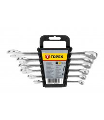 Набiр ключiв комбiнованих TOPEX, 8-17 мм, 6 шт.