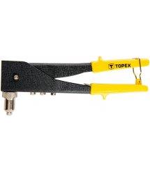Topex 43E712 Клепальний iнструмент для заклепок алюмiнiєвих 2.4, 3.2, 4.0, 4.8 мм, двi позицiї