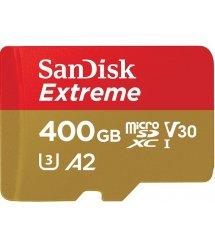 Карта пам'ятi SanDisk 400GB microSDXC C10 UHS-I U3 A2 R160/W90MB/s Extreme V30 + SD