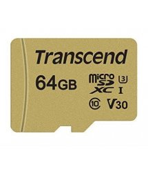 Картка пам'яті Transcend 64GB microSDXC C10 UHS-I U3 R95/W80MB/s 4K + SD адаптер