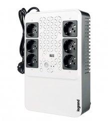 ИБП Legrand, KEOR MULTIPLUG 600 ВА / 360Вт, (4+2) хSchuko, USB