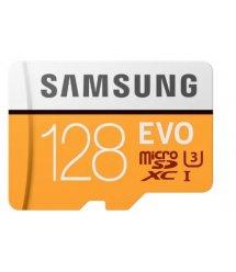 Карта пам'яті Samsung 128GB microSDXC C10 UHS-I U3 R100/W90MB/s Evo + SD адаптер