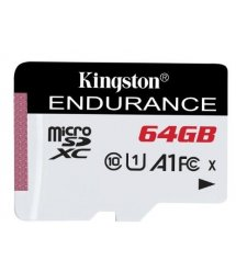 Карта пам'яті Kingston 64GB microSDXC C10 UHS-I R90/W45MB/s High Endurance