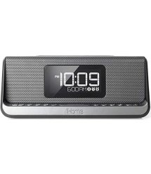 Акустична док-станція iHome IBN350G, Qi Wireless Charging, BT, NFC, USB, Aux Mic