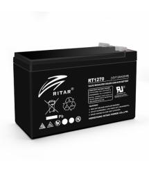 Аккумуляторная батарея AGM RITAR RT1270A, Black Case, 12V 7.0Ah ( 151 х 65 х 94 (100) ) Q10
