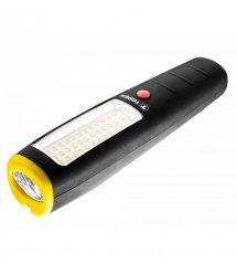 Фонарь TOPEX 94W383, 2 источника света, 3 Вт, 36 SMD + 7 LED, 3xAA,магнит,крюк,3 реж,15\100\350 люмен.10 ч работы