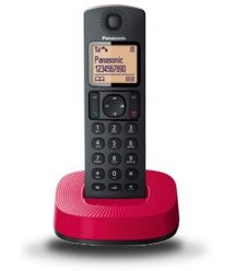 Радіотелефон DECT Panasonic KX-TGC310UCR Black Red