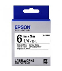 Картридж зі стрічкою Epson LK2WBN принтерів LW-300/400/400VP/700 Std Blk/Wht 6mm/9m