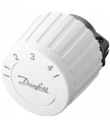 Термостатична головка Danfoss FJVR, різьбове підключення RTL, регулювання +10 до + 50 °C, біла