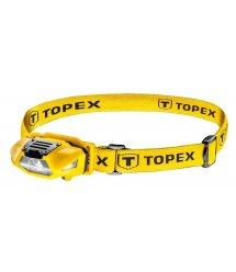 Фонарик TOPEX налобный, 1Вт, 70 люменов, 4 режима, 1xAA, до 12 ч белый свет, до 20 ч красный свет