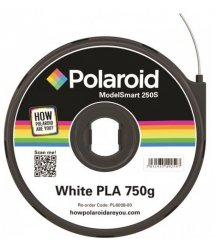 Картридж з ниткою 1.75мм / 0.75кг PLA Polaroid ModelSmart 250s, білий
