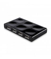 Концентратор USB 2.0, 7 портів Belkin USB Mobile Hub активний, з блоком живлення, Black/Чорний