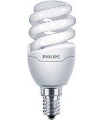 Лампа энергосберегающая Philips E14 8W 220-240V WW 1PF/6 Tornado T2 mini