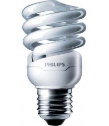 Лампа энергосберегающая Philips E27 12W 220-240V WW 1CT/12 TornadoT2 8y