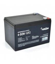 Тяговая аккумуляторная батарея AGM MERLION 6-DZM-12, 12V 12Ah F2 (151х98х101 мм) White / Black Q4