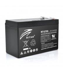 Аккумуляторная батарея AGM RITAR RT1270B, Black Case, 12V 7.0Ah ( 151 х 65 х 94 (100) ) Q10