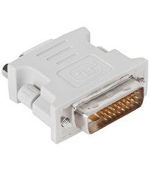 Переходник DVI-D 24+1 (папа) / VGA(мама), Grey Q50
