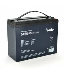 Тяговая аккумуляторная батарея AGM MERLION 6-DZM-32, 12V 32Ah M5 (222*93*174), Q3