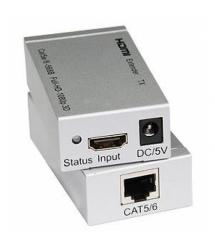 Одноканальный активный удлинитель HDMI сигнала по UTP кабелю. Дальность передачи: до 60метров, cat5e - cat6e 1080P - 3D