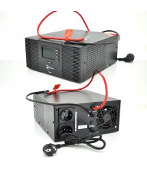 ИБП с правильной синусоидой RITAR RTSWrl-1000 (600Вт), 12В с переключнием тока заряда 10A и 20 A (360*330*230) 9,6 кг (290*255*1